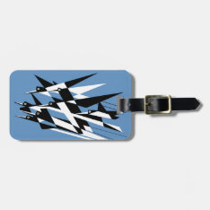 Soar To Success Art Deco Geometric Birds Bag Tag at Zazzle