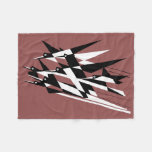 Soar To Success Art Deco Geometric Birds Fleece Blanket at Zazzle