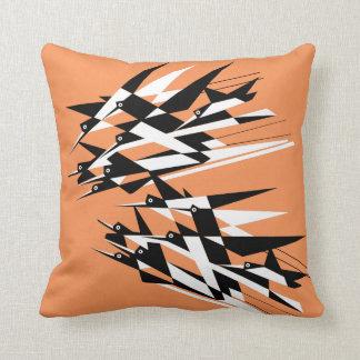 Soar To Success Art Deco Geometric Birds Pillow