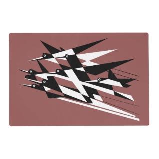 Soar To Success Art Deco Geometric Birds Placemat at Zazzle