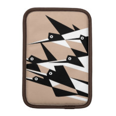Soar To Success Art Deco Geometric Birds Sleeve For Ipad Mini at Zazzle