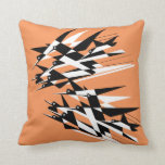 Soar To Success Art Deco Geometric Birds Throw Pillow at Zazzle