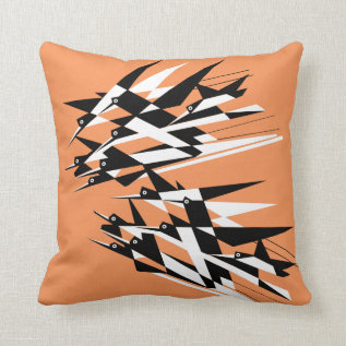 Soar To Success Art Deco Geometric Birds Throw Pillow at Zazzle