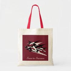 Soar To Success Art Deco Geometric Birds Tote Bag at Zazzle