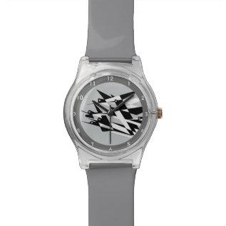 Soar To Success Art Deco Geometric Birds Wristwatch at Zazzle