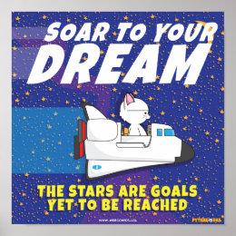 """""""Soar to Your Dream, Pythagoras"""" Poster"""