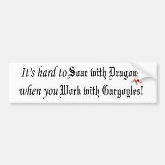 soar with dragons bumper sticker