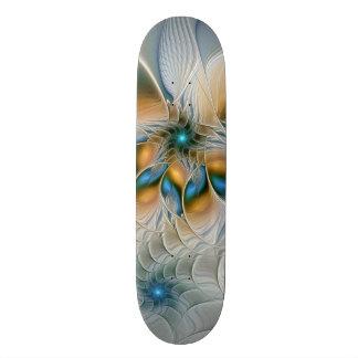 Soaring, Abstract Fantasy Fractal Art With Blue Skateboard
