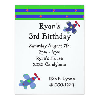 Soaring Airplanes Birthday Party Invitation