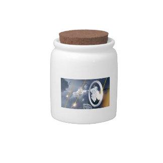 Soaring Anishinabek Thunderbirds Candy Jar