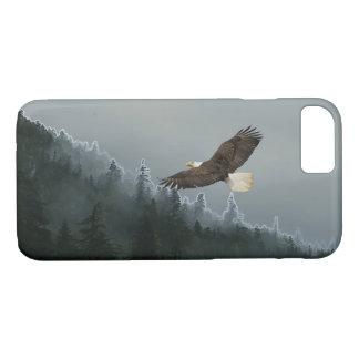 Soaring Bald Eagle & Alaskan Forest Device Case