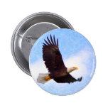 Soaring Bald Eagle Button