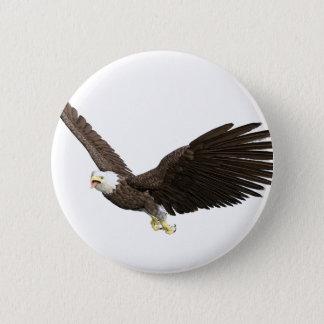 Soaring Bald Eagle Pinback Button
