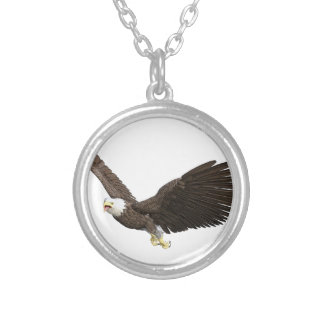Soaring Bald Eagle Silver Plated Necklace