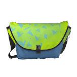 SOARING BIRDS Customizable Bag Lime Green Messenger Bag