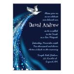 Soaring Dove Bat Bar Mitzvah Invitation blue