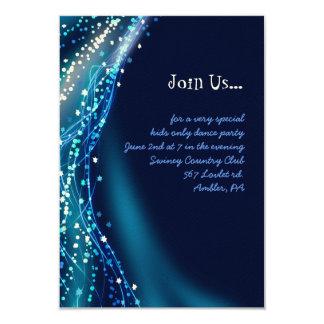 Soaring Dove Bat Bar Mitzvah Reception Party Card Invitation