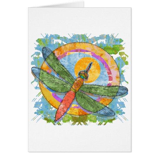 Soaring Dragonfly Card