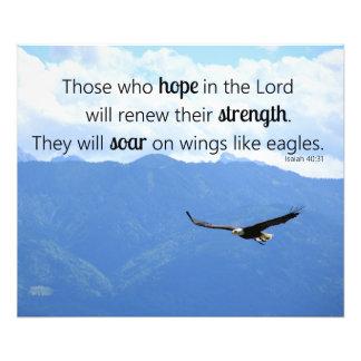Soaring Eagle Christian Strength Isaiah 40:31 Photo Print