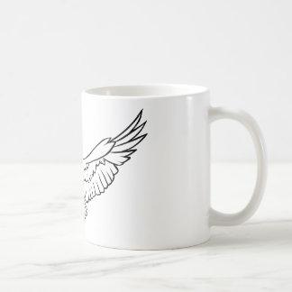 Soaring Eagle, flying - black and white Coffee Mug