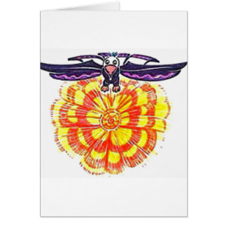 """""""Soaring Eagle over the Sun"""" Greeting Cards"""