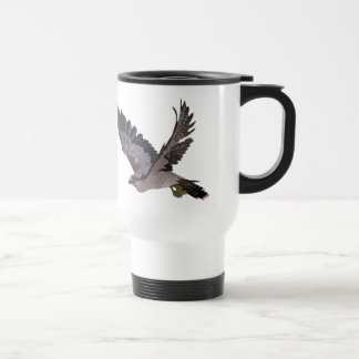 Soaring Falcon with Outstretched Wings 15 Oz Stainless Steel Travel Mug