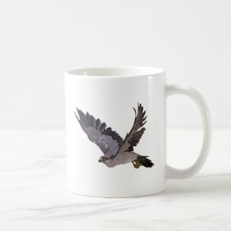Soaring Falcon with Outstretched Wings Classic White Coffee Mug