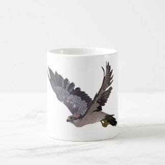 Soaring Falcon with Outstretched Wings Coffee Mug