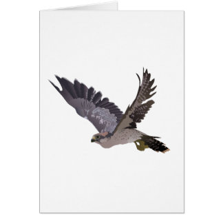 Soaring Falcon with Outstretched Wings Greeting Card