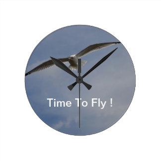 Soaring Glider Round Clock