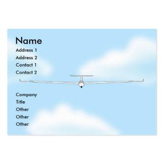 Soaring Gliding Sailplane Glider chubby Business Card Templates