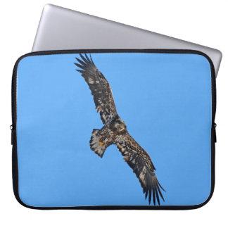 Soaring Golden Eagle Wildife Photo Art Laptop Sleeve