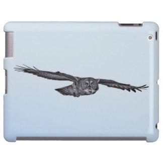 Soaring Great Grey Owl Wildlife Photo
