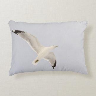 Soaring Gull Decorative Pillow