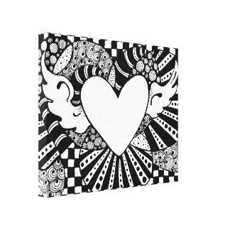 Soaring Heart Tangle Canvas Print
