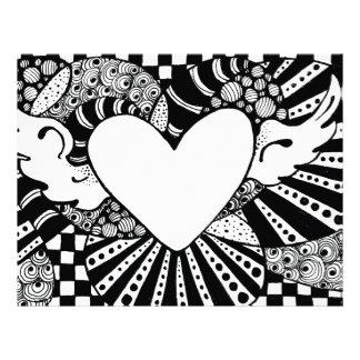 Soaring Heart Tangle Letterhead