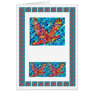 Soaring High Angel Bird  -  add text img Greeting Card