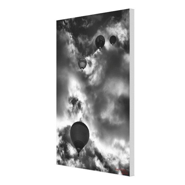 Soaring Hot Air Balloons Canvas Print