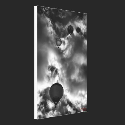 Soaring Hot Air Baloons wrapped canvas Gallery Wrapped Canvas