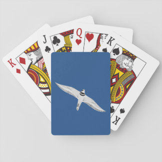 Soaring Killdeer On Blue Playing Cards