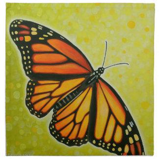 Soaring Monarch butterfly napkin