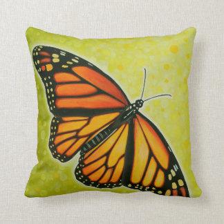 Soaring Monarch Butterfly pillow