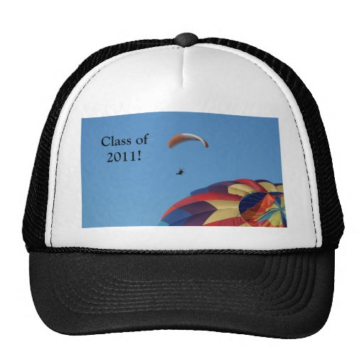 Soaring over the balloons! mesh hat