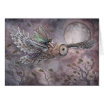 Soaring Owl and Fairy Art Card by Molly Harrison