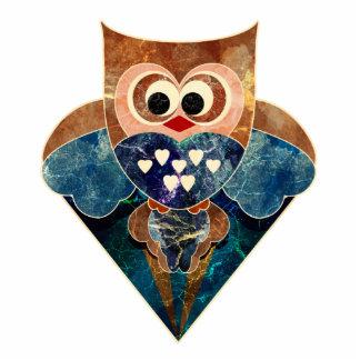 Soaring Owl Sculpture Pin