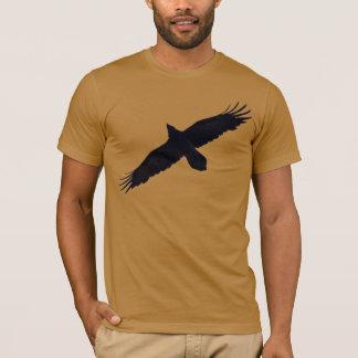 Soaring Raven Silhouette for Corvid-lovers T-Shirt