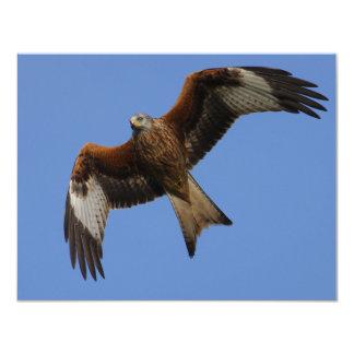 Soaring Red Kite 4.25x5.5 Paper Invitation Card