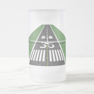 Soaring Runway on tow 16 Oz Frosted Glass Beer Mug