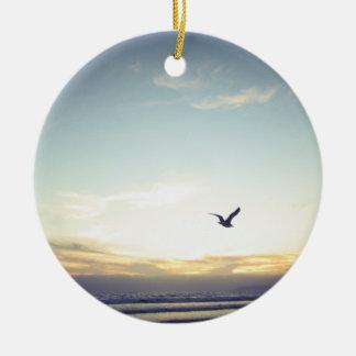 Soaring Seagull - Ceramic Ornament