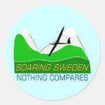 Soaring Sweden Round Stickers